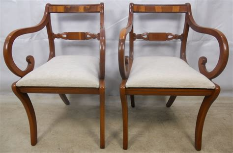 set of six regency style yew dining chairs sold