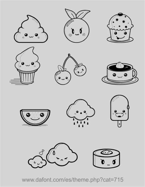 comida kawaii para colorear dibujos colorear comida chatarra divertidas imagen