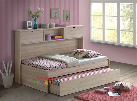 Space Saving Bookcase 1 Pepito King Single Trundle Bed With Bookcase Awesome