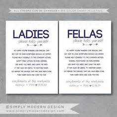 list of items for wedding bathroom basket wedding bathroom signs set of 2 ladies mens bathroom