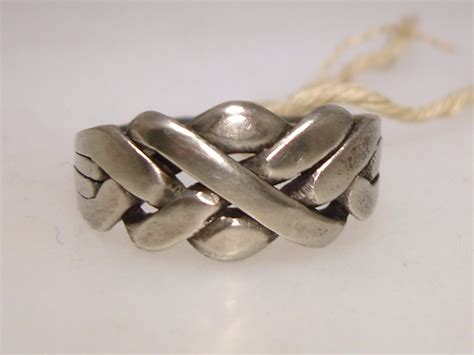 vintage celtic knot silver puzzle ring sz 8 federal