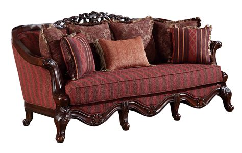 fabric and wood sofas u2300 red fabric solid wood sofa by global furniture