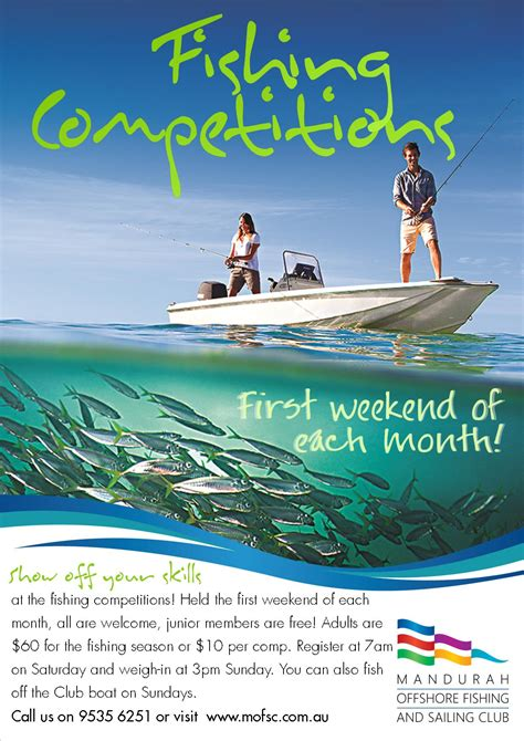 plimmerton boat club fishing competition mandurah fishing competitions mofsc mandurah offshore