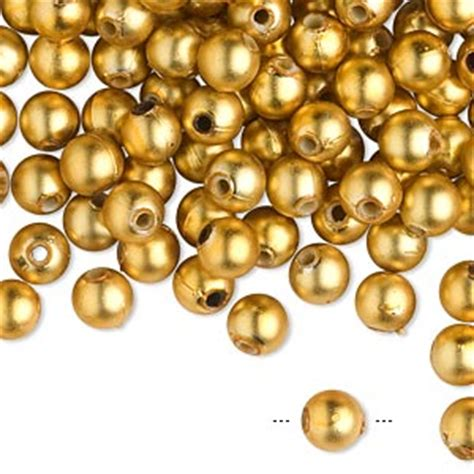 mixed metals beads silver gold n copper round beads beautiful bead acrylic matte metallic gold 6mm round sold per
