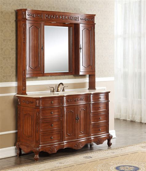 "60"" Kensington Teak Single Sink Bath Vanity   Antique ReCreations"