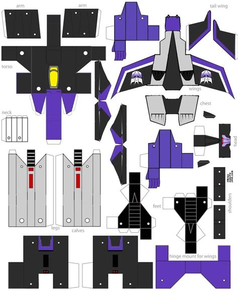 Transformer Papercraft - papercraft skywarp animated by minibot gears on deviantart