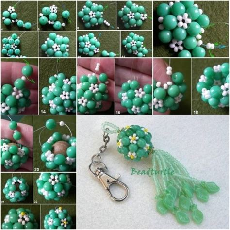 how to make beaded keychains for how to make key chain charm step by step diy