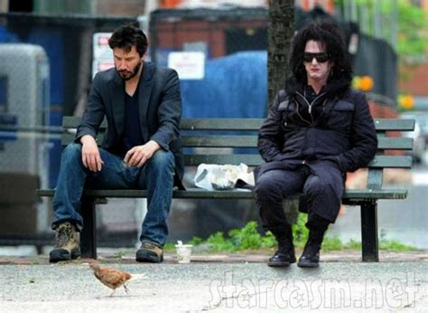 keanu bench photo sad keanu reeves and sad sean penn in drag