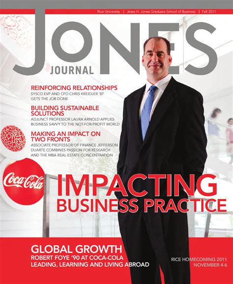 Rice Mba Career Services by Jones Journal Fall 2011 By Rice Business Issuu