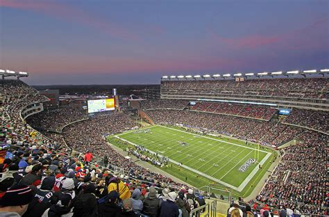 Gillette Stadium Gift Cards - gillette stadium and new england patriots photograph by juergen roth