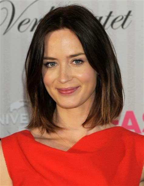 blunt cut medium length hairstyles emily blunt hairstyles popular haircuts