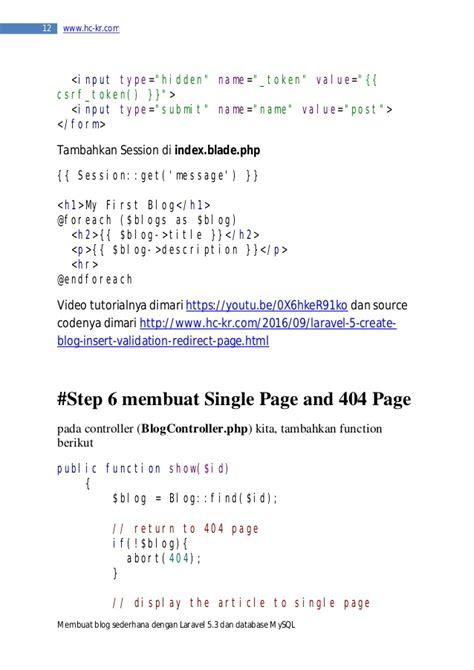 membuat blog sederhana dengan php laravel 5 tutorial membuat blog sederhana dengan laravel 5 3
