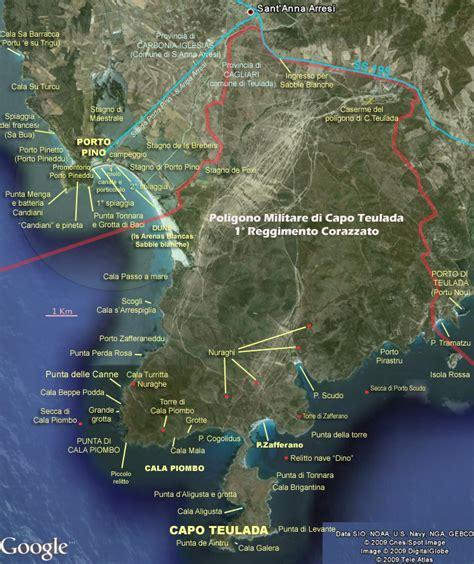 porto pino mappa lni sulcis porto pino mappa dei nomi delle localit 224 di