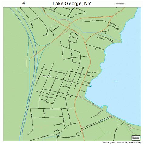 map of lake george ny lake george new york map 3640508
