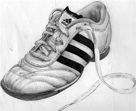 adidas shoe pencil drawing by patiunique on deviantart