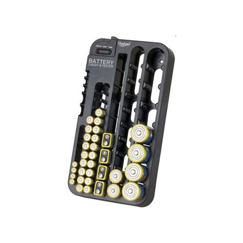 Battery Rack Organizer by Battery Tester With Caddy Storage Plastic Holder Rack Organizer Electus