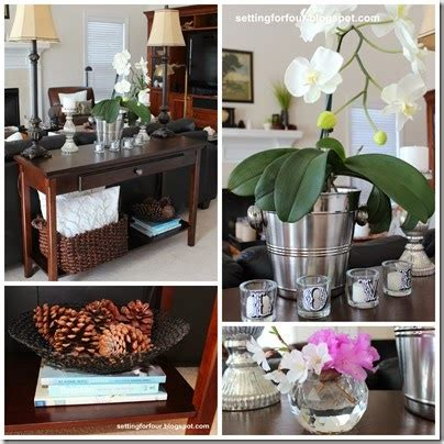 How To Create And Decorate A Fall Vignette Setting For Four How To Decorate A Sofa Table A