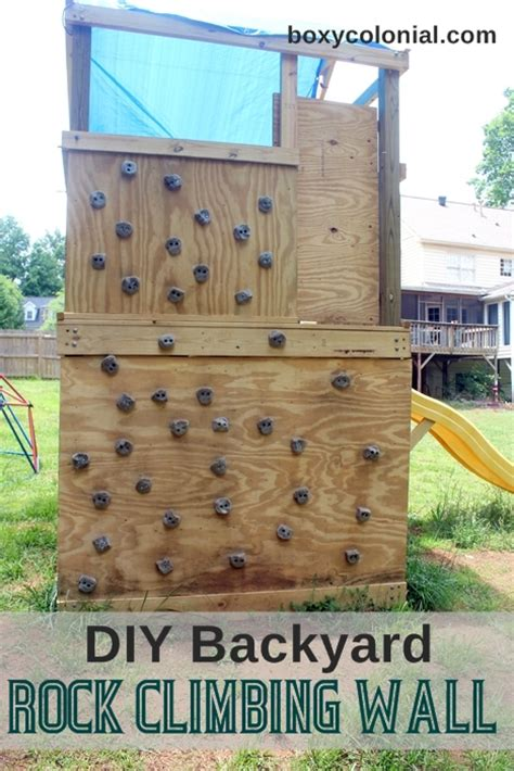 diy outdoor climbing wall diy swing set part 2 how we made the rock climbing wall
