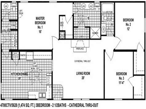 Clayton Double Wide Mobile Homes Floor Plans | clayton double wide mobile homes floor plans modern