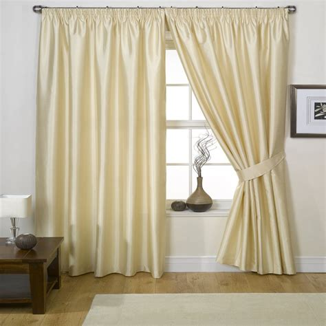 faux silk cream curtains buy curtains buy curtain pencil pleat curtain