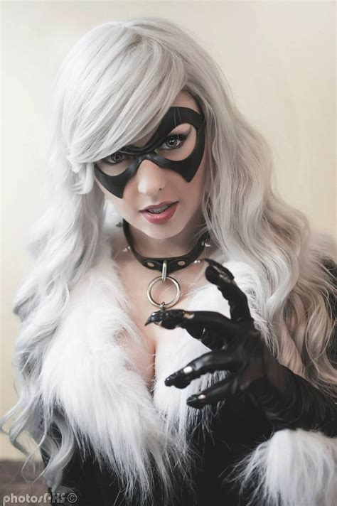 Cat Time Black Leather marvel comics character black cat model britni mcneil