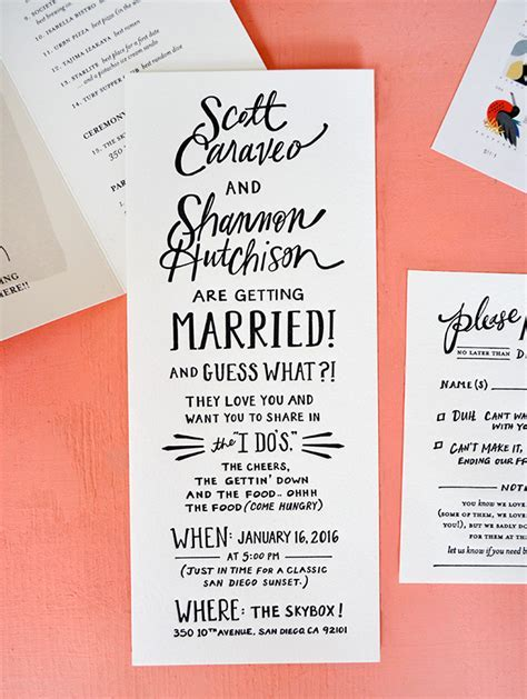 The Best Wedding Invitations of 2016