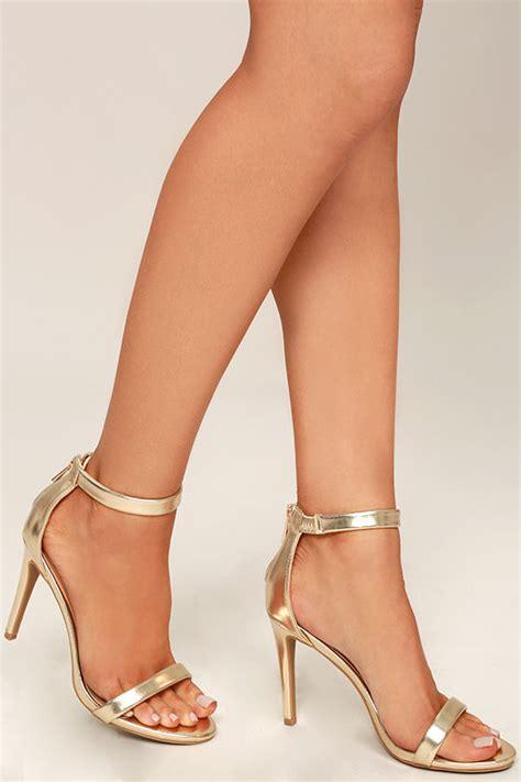 Wedges Gold Gliter Wedges Murah pretty gold heels ankle heels metallic heels