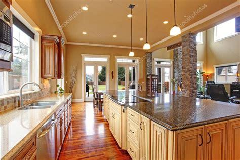 kdw home kitchen design works kitchen interior in luxury house stock photo 169 iriana88w 49166455