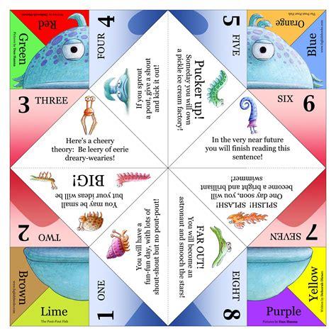 Fortune Tellers Paper Folding - the pout pout fish deborah diesen