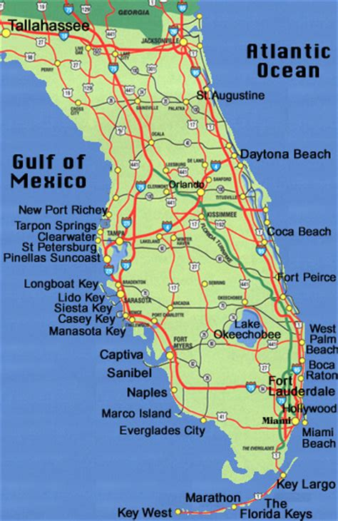 florida map beaches florida map
