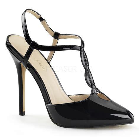 stiletto sandals pleaser amuse 16 womens 5 quot stiletto heels t sling