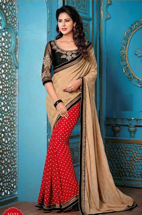 Blouse Bordir Mf buy chiku and embroidered jacquard saree with blouse