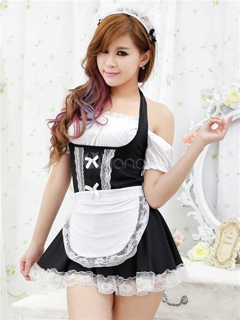 bedroom costume for women lace elastic woven satin women s maid bedroom costume