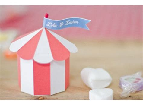 Origami Circus Tent - caja personalizable circus para imprimir descargables