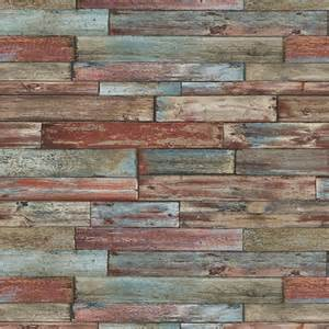 Faux Painting Samples - erismann authentic wood panel painted effect textured wallpaper