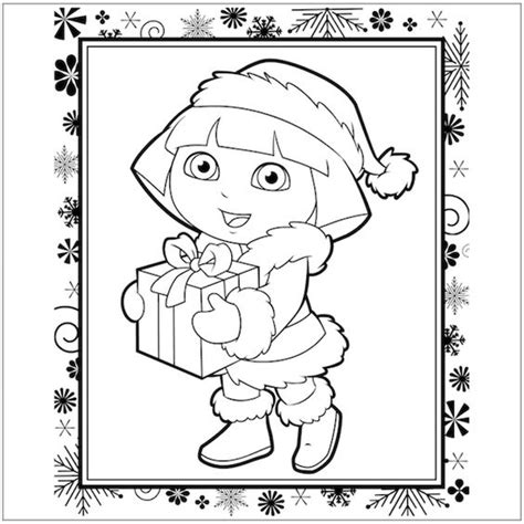 dora christmas coloring pages free printable free dora christmas coloring page christmas coloring