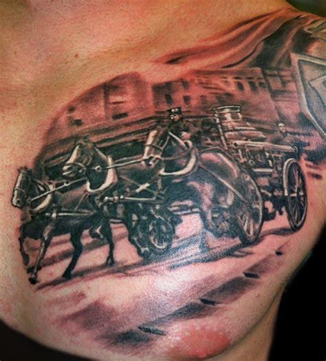 tattoo engine gallery steam fire engine by luca natalini tattoonow