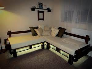 pallet sectional sofa diy pallet sectional sofa with lights 99 pallets