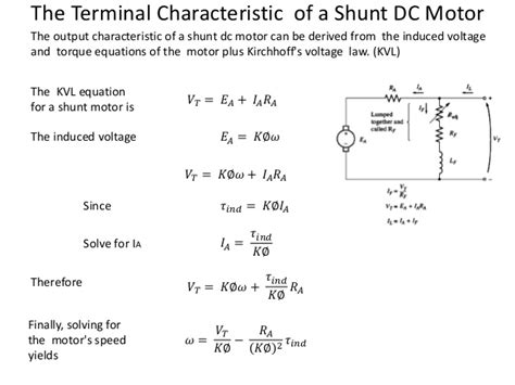 dc motor equations machine lecture 6