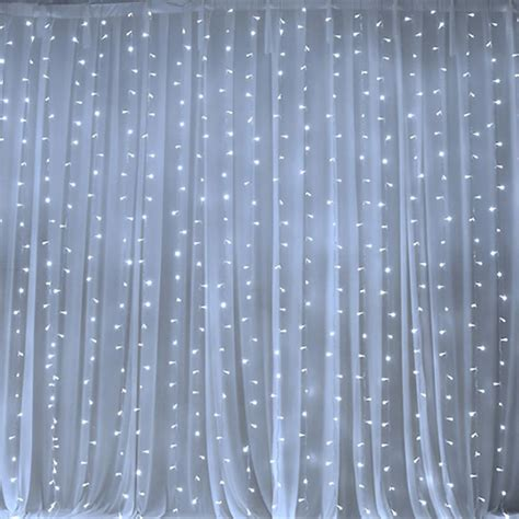 20 Ft Curtains 20 Ft X 10 Ft Led Lights Organza Backdrop Curtain Ebay