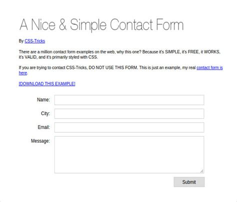 html simple form template 20 php contact form templates free website themes