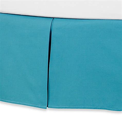 blue bed skirt anthology kaya bed skirt in blue bed bath beyond