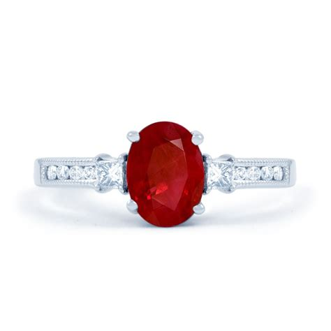 Ruby Ring by Arya Ruby Engagement Ring With 0 2ct In 18ct White