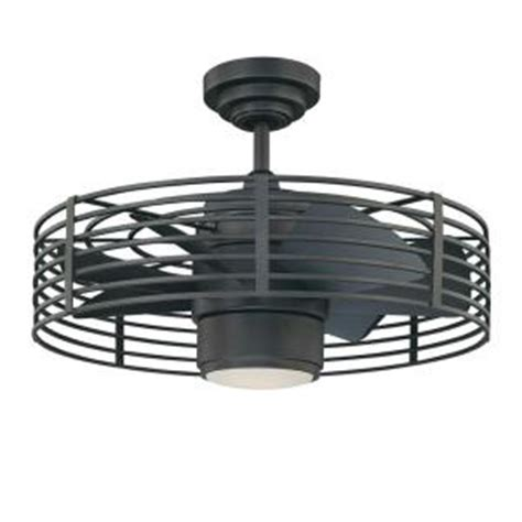 ceiling fan with cage designers choice collection enclave 23 in iron