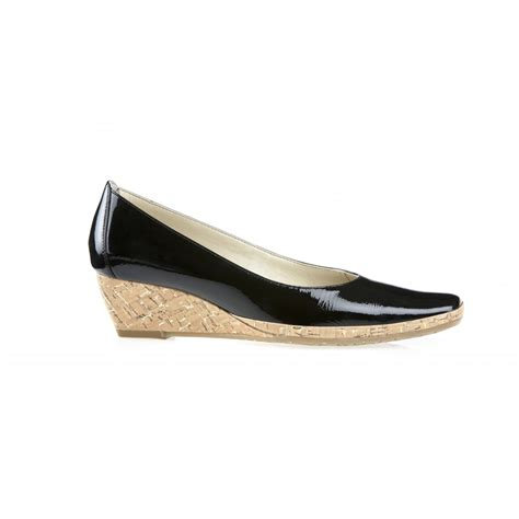 dal palawan black patent wedge shoe dal from