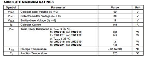 Quality Transistor Tr 2n2219 2n2219a 2n 2219 A Npn New 2n2219a datasheet pdf stmicroelectronics datasheet 2n2219a