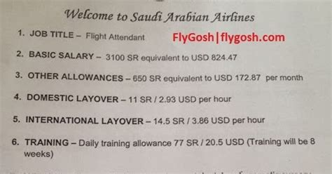 What Is Cabin Crew Salary by Fly Gosh Saudi Arabian Airlines Cabin Crew Flight