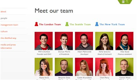 Meet The Team Pages Creative Exles Ideas For Staff Bios And More Our Team Website Template