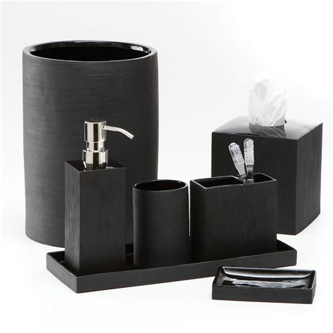 Black Bathroom Accessory Set Black Bathroom Accessories
