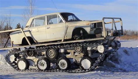 lada a this tank track conversion looks like a lada lada laughs